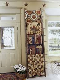 Decorating with Heirlooms – Displaying Collections & The following three photos come from Bountifulheirlooms.blogspot. Cute ways  to display heirloom quilts. Adamdwight.com