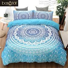 blue black purple color bedding kit for bedroom full queen king size bed set bohemian purple and teal bedding aqua sheets