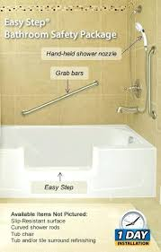safe step walk in tub. Safe Step The Easy Bathroom Safety Package Walk In Tubs Reviews Tub