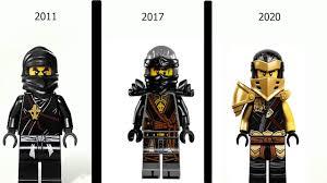 Ninjago Cole 1-13 Kostüm Adları İle Evrim - YouTube