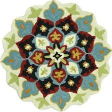get ations loloi rugs gardhga04ivbl300r gardenia collection hand tufted 100 percent wool round area rug 3
