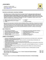 roofing supervisor resume sample template supervisor resume sample