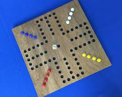 Beautiful Wooden Marble Aggravation Game Board Items similar to 100 Aggravation Game Board Wood Glass Marbles 43