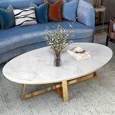 100cm oval marble coffee tables