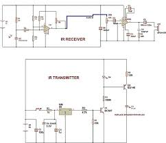 infrared based music transmitter and receiver build circuit ir music transmitter and receiver
