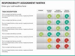 Responsibility Assignment Matrix Powerpoint Template Great Matrix Of
