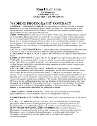 Photography Contracts Wedding Photography Contract In Word And Pdf Formats