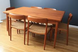 danish modern dining table and chairs innovative teak tables for room inspirations 3