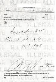 Prescriptions - Writing Prescription Example
