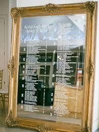 Mirror Wedding Seating Chart Wedding Mirror Signs 12 Wedding Mirror Signs We Love