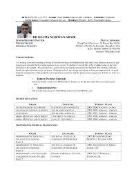Dr Arabi Cv Medical