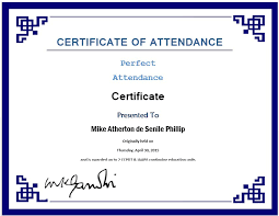 14 Sample Of Certificate Of Attendance Soulhour Online