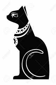 Vector Egypt Cat Goddess Bastet Egyptian God Ancient Figurine