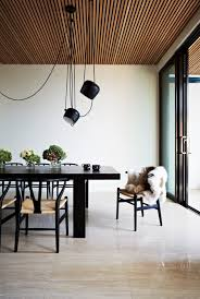 Wooden ceilings  Australian architects Workroom Design collaborated with  Agushi Builders to create Oban House, an urban house