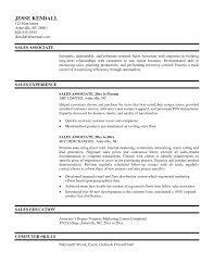 Gallery Of Resume Template Sales Associate Sample Resume Cover