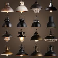 industrial lighting fixture. Vintage Rustic Metal Lampshade Edison Pendant Lamp Lights Retro Lustre Shade Hanging Lampe Fixture Industrial Lighting Lamparas-in From