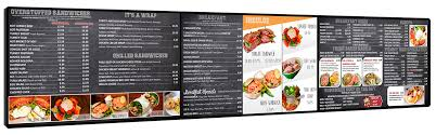 How To Design A Digital Menu Board Menu Board Oss Data