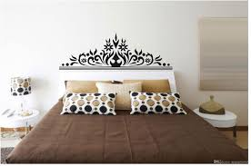 modern bedroom wall art decal sticker headboard wall decoration mural posterclassic black flowers headboard decoration art
