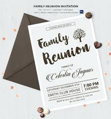Marvelous Free Reunion Invitation Templates Sample Family Program