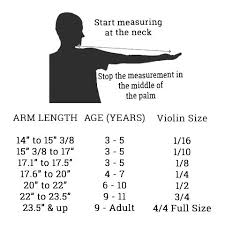 Instrument Sizing The Loft Violin Shop
