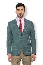 Van Heusen Suits Blazers Van Heusen Green Blazer For Men At Vanheusenindia Com
