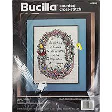 Bucilla To Dmc Floss Conversion Chart Amazon Com In All Things Counted Cross Stitch Kit Bucilla 40888