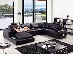divani casa t285 modern leather sectional sofa