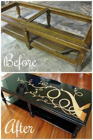 Old Coffee Table Makeovers Glass Coffee Table Makeover Aubusson Blue Annie Sloan Table