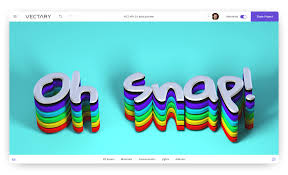 vectary 3d typography text design oh snap google