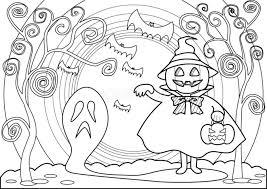ハロウィン塗り絵かぼちゃ魔女とおばけイラスト大人高齢者向け