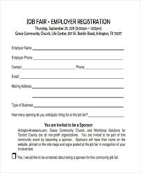 Job Fair Registration Form Samples Free Sample Example For On Exit ...