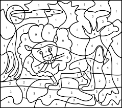 color by number printables free.  Free Color By Numbers Coloring Sheets To Color By Number Printables Free O