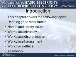 chapter work habits and issues introduction this chapter covers 2 introduction this chapter covers the following topics defining good work habits health and safety issues workplace diversity workplace discrimination