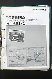 toshiba rt 6075 original service manual manual wiring diagram top toshiba rt 6075 original service manual manual wiring diagram top condition o33