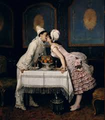 The Kiss By Auguste Toulmouche, 1870.