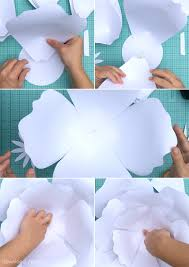 how to assemble a giant paper rose print