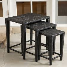 details wicker nesting tables outdoor