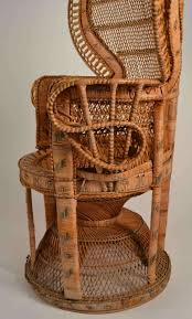 british colonial rattan peacock chair for