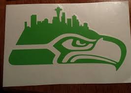 Small Picture Free Seattle Seahawks Skyline Decal Sticker in LIME GREEN