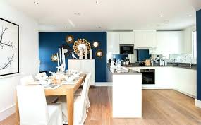 blue wall kitchen navy accent wall blue accent wall open space view in gallery accent wall