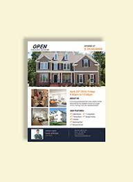 mortgage flyers templates mortgage open house flyer template in adobe photoshop illustrator