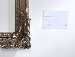 Labelling Art Label Holders Display Information Clearly