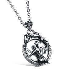 Sexy Lady in Mirror Novelty Cool Pendant Necklace Men's Jewelry 316L  Titanium Steel Stainless Link Chain