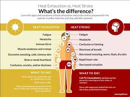 Heat Exhaustion Heat Stroke Chart Whats The Difference Between Heat Exhaustion And Heat