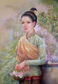 หญงไทยจากผลงานวาดภาพประกอบของผม Pantip