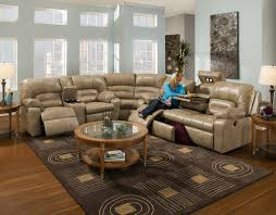fresh living room design with coffee table and area rug also microfiber sectional couch and window treatment