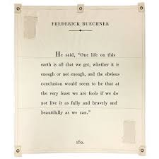 Frederick Buechner Quotes Simple Wall Tarp Frederick Buechner Sugarboo Co