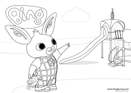 Colouring Bing Bunny