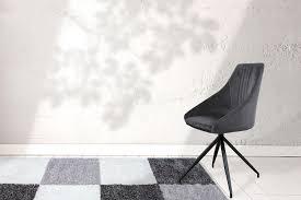 Velvet Chair Swivel Chair Retro Modern Dining Room Chair Living Room Chair Grey Dark Grey