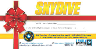 skydive gift card mon fri